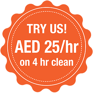 Book home cleaning services in Dubai Book 4 hours, AED 25/hr